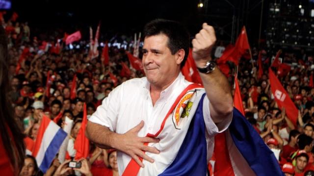 Smokin' -  Paraguay's new president, tobacco magnate Horacio Cartes