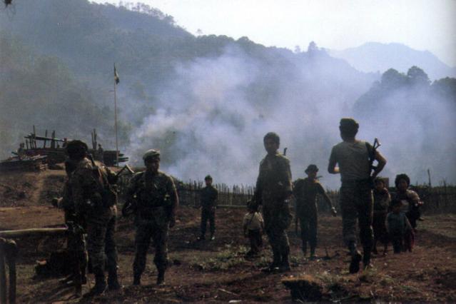 Guatemalan soliders in Sofia