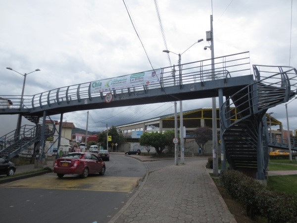 Useless pedestrian bridge