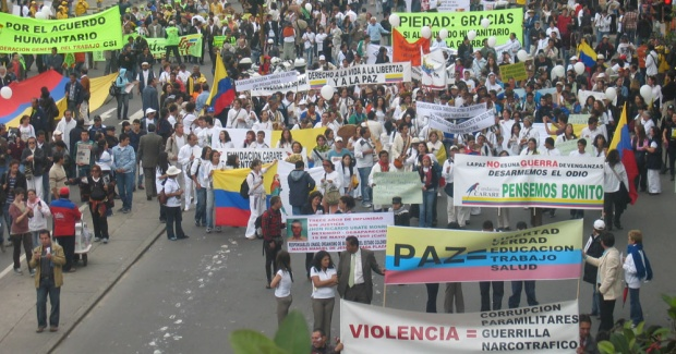 Colombians want peace and Colombians wants justice. What was that saying about cake?