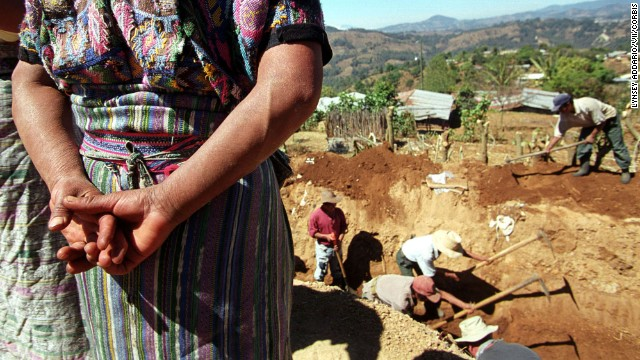 To this day, Guatemalan are unearthing mass graves