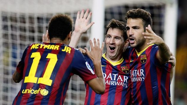 Messi and Neymar lead a dramatic Barcelona win in which 6 South Americans played for azulgrana