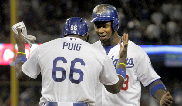 Hanley Ramirez (Dominican Republic) and Yasiel Puig (Cuban) lead the Dodgers in the 2013 MLB Playoffs