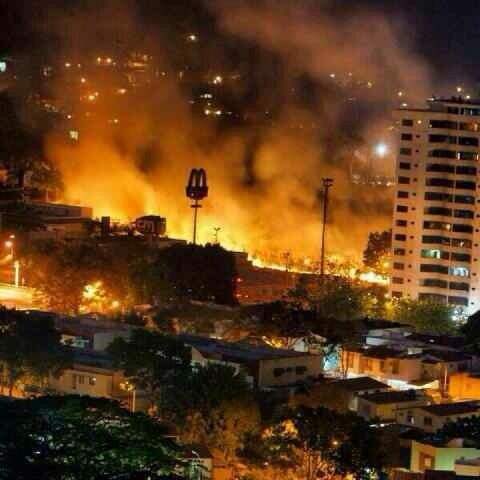 Caracas, the night of February 18