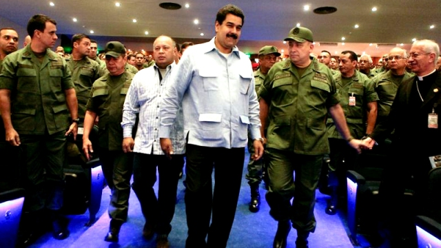 President Maduro's government has been good for the military