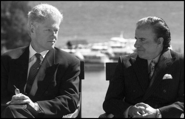 Bill Clinton and Carlos Menem