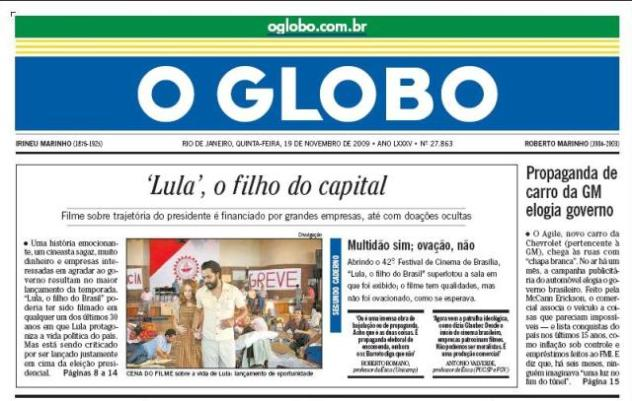 A look at Rio de Janeiro coverage by the city's most important paper