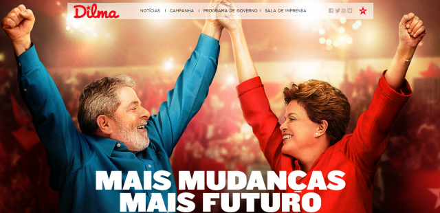 "The incumbent is running on a message of ""more change"" only one interesting feature of the Brazilian TV campaign"