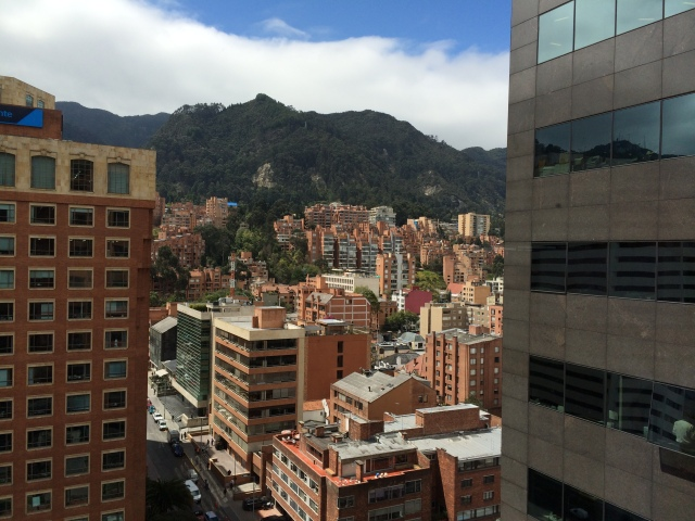 The view from the Colombian stock market? Not so bad...