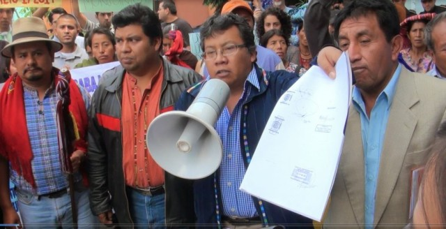 Guatamalans protest a law they believe hurts local farmers
