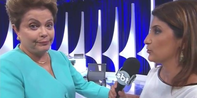 Dilma almost fainted after a recent debate (she recovered quickly)