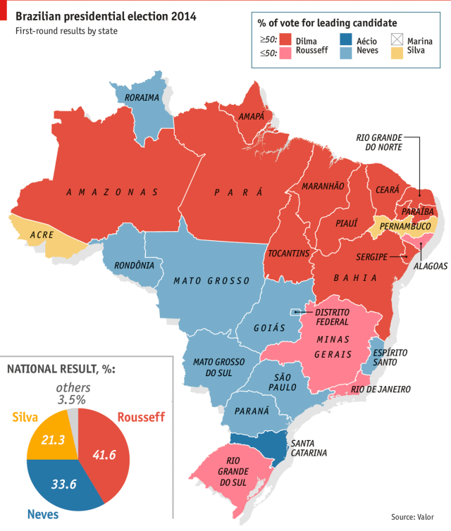 Tell me where you live and I tell you who you voted for. (Source: The Economist)