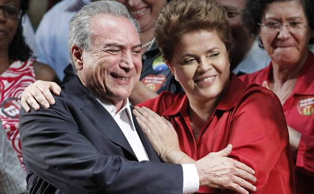 President Rousseff and VP Temer during happier days.